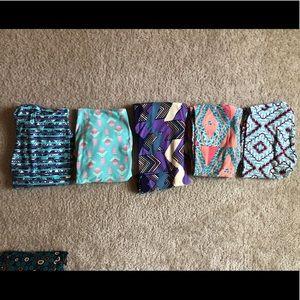 Lot of 5 LuLaRoe leggings
